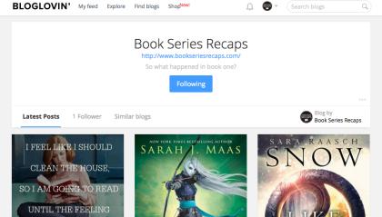 book series recaps on bloglovin