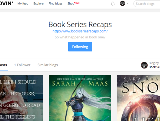 Book Series Recaps now on Bloglovin