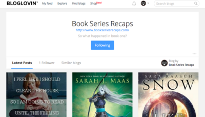 book series recaps on bloglovin