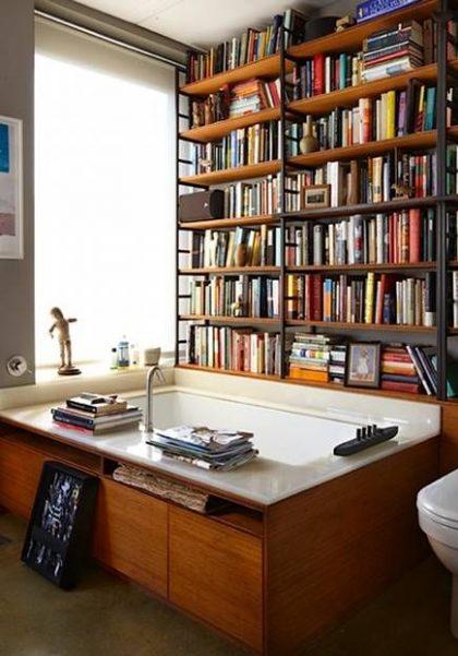 bathtub bookshelf