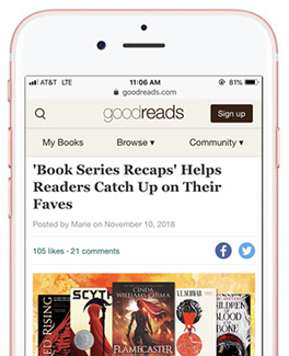 BSR Featured on Goodreads and Our fav books from last year